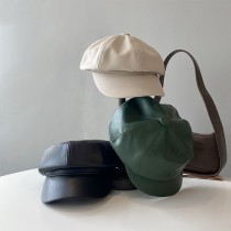 PU皮革八角帽
