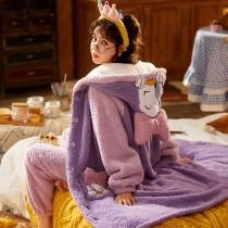 就是要可愛~迪士尼冬季法蘭絨睡袍 M-XXL
