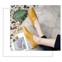 V口俐落風小皮鞋 / 朵杜鞋 / 簡約風皮鞋  35-39  SMALL KI