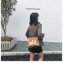 2019韓國韓版磨沙皮大容量兩種背款肩背包
