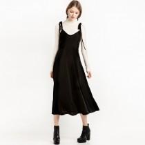 冬季天鵝絨質感滿分綁帶洋裝   s-XXL   SMALL KI