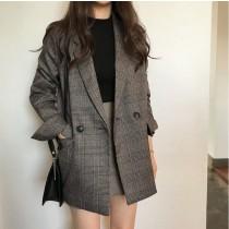 秋冬格子西裝外套  SMALL KI