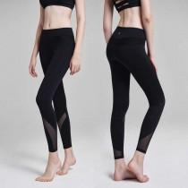 高彈力修身拼接紗質瑜珈褲  健身褲  S - L SMALL KI