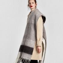 厚款超長仿羊絨披肩圍巾