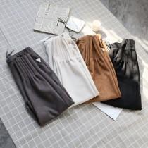 伸縮腰挺料麡皮縮口褲   M-XL  SMALL KI