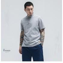男士夏季舒適簡約翻領polo短袖衫  M-5XL  SMALL KI