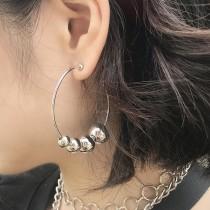 串珠大圓耳環  small ki