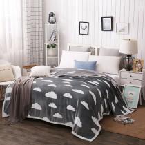 [現貨] 冬季保暖單品雲貂絨珊瑚絨加厚毛毯午睡毯(雲朵-灰一件)