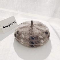 幾合針織復古畫家帽  small ki