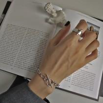 S925純銀韓版訂製鎖鏈款純銀手鍊  SMALL KI