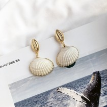 海洋的秘密珍珠貝殼耳環  small ki