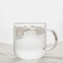 極地手工情侶牛奶杯/北極熊企鵝玻璃杯