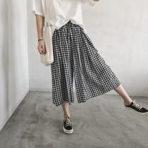 [零碼出清特價]清涼格文顯瘦褲  small ki